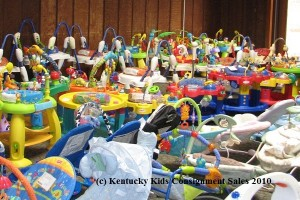 infant gear at Kentucky Kids Consignment Sale